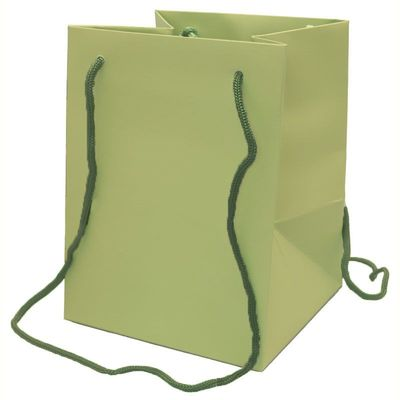 19x25cm Sage Green Hand Tie Bag