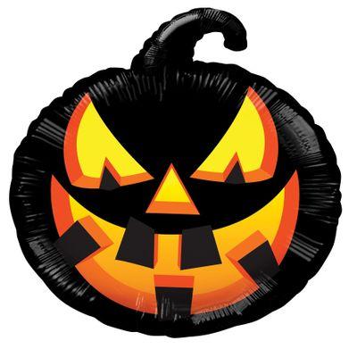 "18"" Halloween Black Pumpkin"
