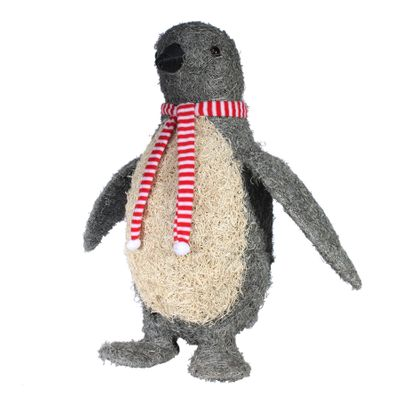 Extra Large Grey/Cream Salim Penguin W/Scarf