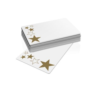 Xmas - Gold Stars (10 Cards, 10 Envelopes)