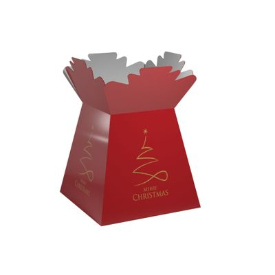 Pearlised Red - Contemporary Christmas Living Vase (x30)