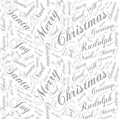 80cm Seasonal Greetings - Silver Film