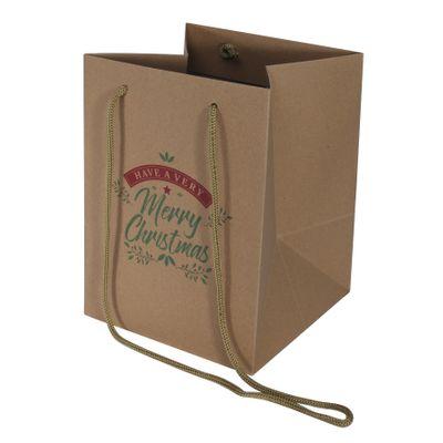 Traditional Christmas Hand Tie Bag (19x25cm)