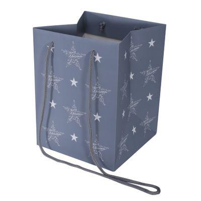 Seasons Greetings Grey Hand Tie Bag (19x25cm)