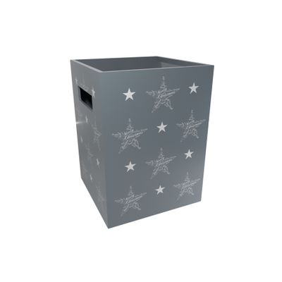 Grey Flower Box-Seasonal Greetings (x10)