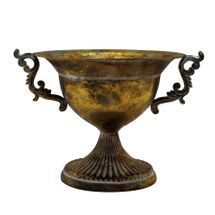 Brocante Fluted Scroll Bowl Gold (33cm)