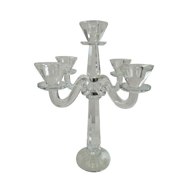 35cm Savoy Crystal Candleholder w/ 5 heads