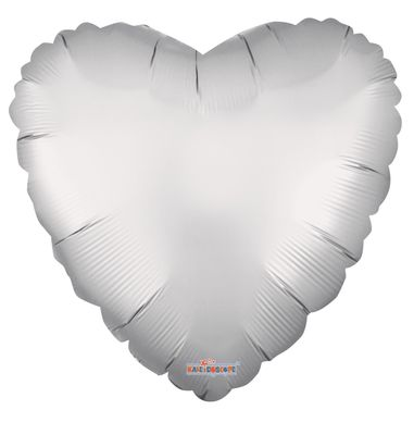 Solid Matt Heart Balloon Silver (18 inch)