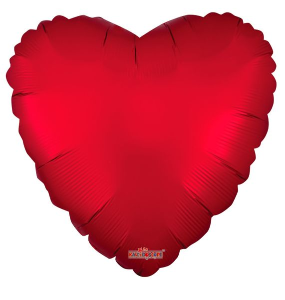 Solid Matt Heart Balloon Red (18 inch)
