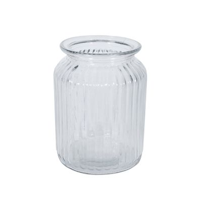 Ribbed Glass Vase (14.5cm)