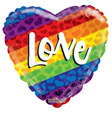Rainbow Love Balloon (18 inch)