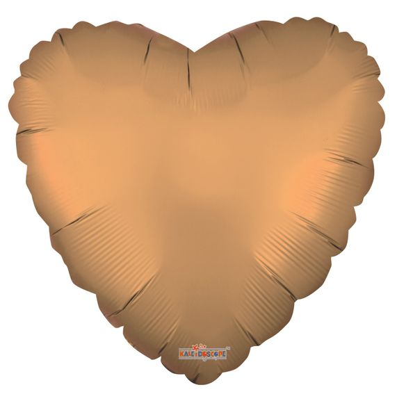 Solid Matt Heart Balloon Gold (18 inch)