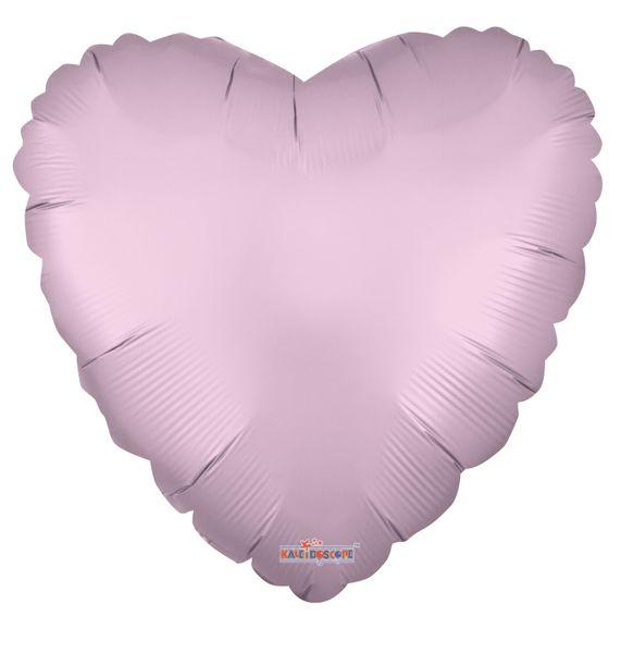 Solid Matt Heart Balloon Pink (18 inch)
