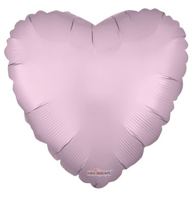 Solid Matt Heart Balloon Pink (18 inch)