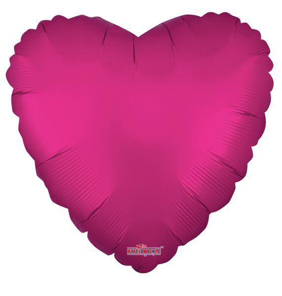 Solid Matt Heart Balloon Hot Pink (18 inch)