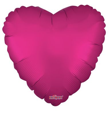 Solid Matt Heart Balloon Hot Pink (18 inch)
