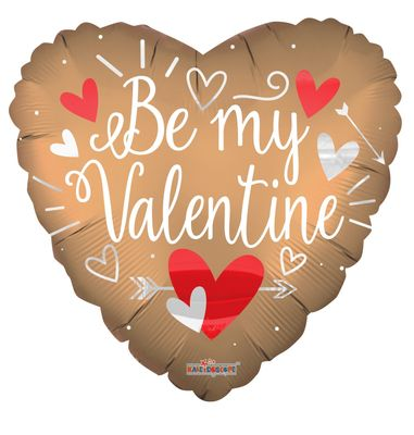 Be My Valentine Jumbo Matt Heart  Balloon (36 Inch)