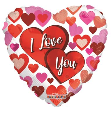 I Love You Big Hearts (18 inch)