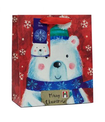 Polar bear gift bag