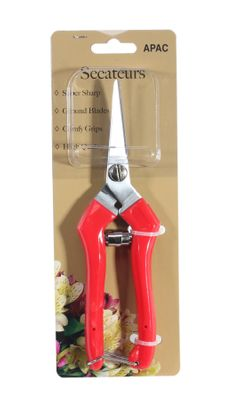 Red Handle Secateurs