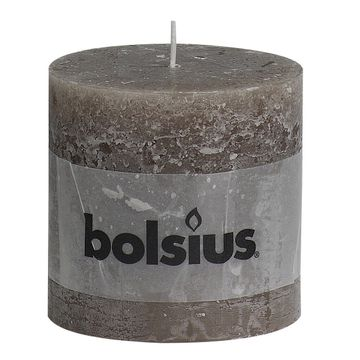 Taupe Bolsius Candle (100x100mm) (BT 57 hours)