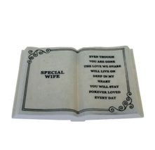 Large Special Wife Memorial Plaque