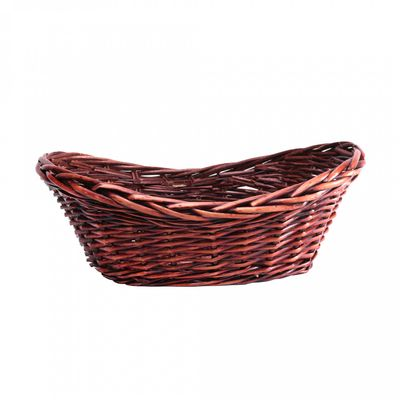 Brown Oval Tray Basket