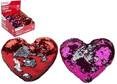 Two Tone Sequin Love Heart