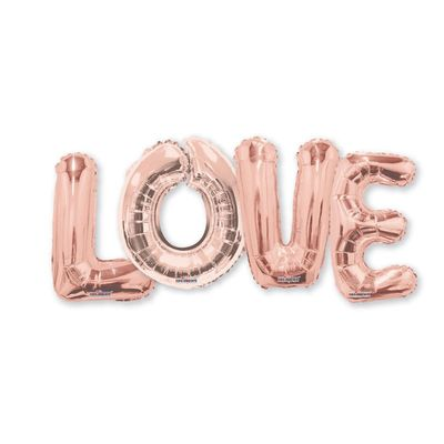 Rose Gold LOVE Balloons