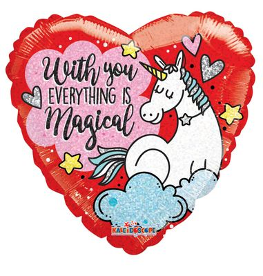 With You Everything is Magical Unicorn Balloon
