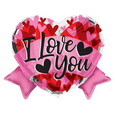I Love You Bow Balloon (18 inch)