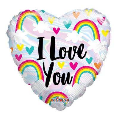 I Love you Rainbows Balloon (18 inch)