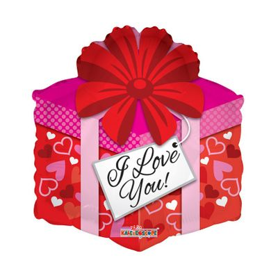 I Love You Present Balloon (18 inch)