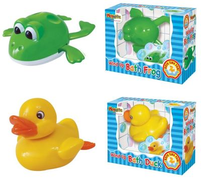 Swimming Frog and Duck