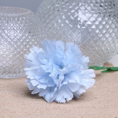 Baby Blue Single Carnations (12 Stems)