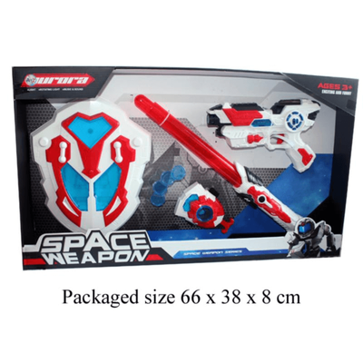 Space weapon set with shield