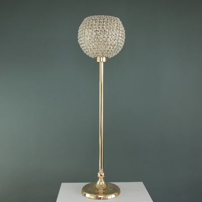 Gold Crystal Effect Globe on Stand (1/4)
