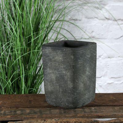 Grey Zen Ceramic Vase 18cm