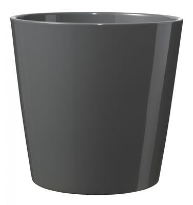 12cm Shiny Anthracite Dallas pot