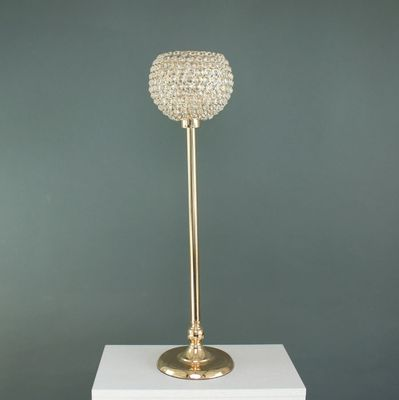 80cm Gold Crystal Effect Globe on Stand