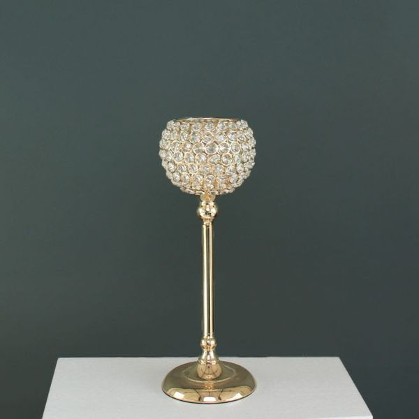 43cm Gold Crystal Effect Globe on Stand