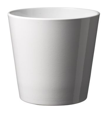 37cm Shiny White Dallas pot