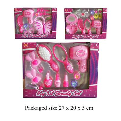 T19216 3 Assorted Beauty play set role play toy.