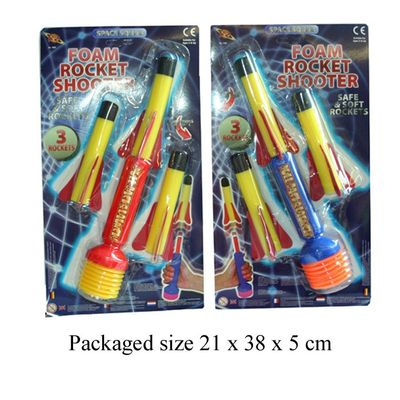 T19270 3 air fired foam rockets.