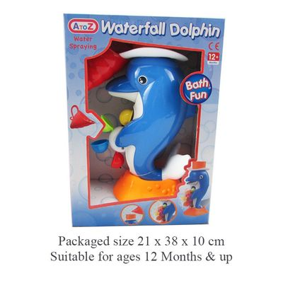 T19387 Duck Bath Toy With Water Wheel And Shell Shaped Cup.