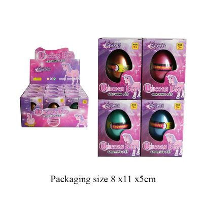 T19514 Growing Pet Unicorn Egg. (4 Assorted Colours)