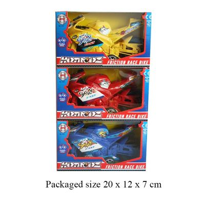 T19526 Friction Racing Motorbike (3 Assorted Colours)