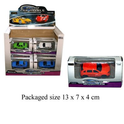 T19543 Die Cast Car With Plastic Parts (4 Assorted)