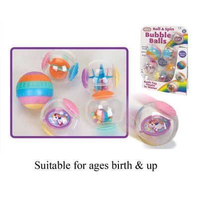 T19552 Set Of 5 Floating Rolling Spinning Toddler Activity Balls. Perfect For Little Hands To Grab.