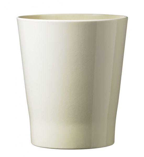 15cm Merina Ceramic Pot Shiny Vanilla